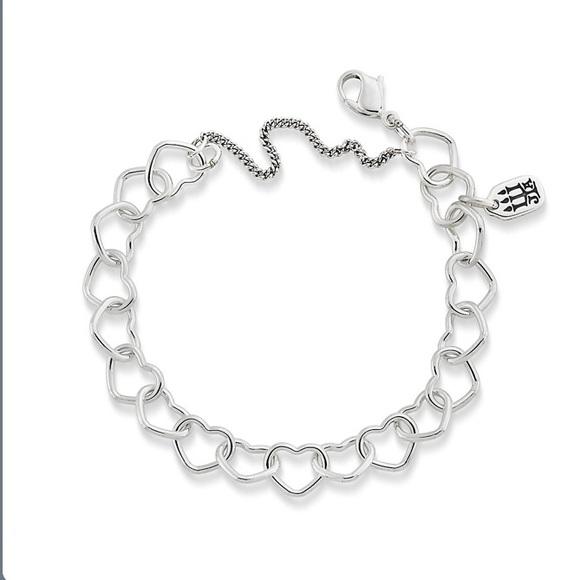 6eabe4873702b James Avery Connected Hearts Charm Bracelet NWT